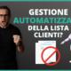 gestione lista clienti